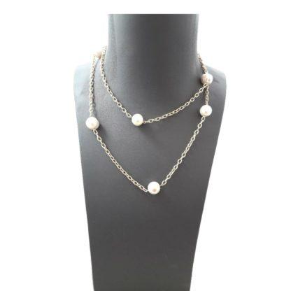Collar 7x7 Perlas dorado